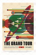 SPACE TOURISM SCIENCE FUN TRAVEL GRAND TOUR OUTER PLANETS POSTER PRINT LF1804