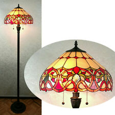 Beautifully Designed with Clear Jewels, Glass Tiffany Style Floor Lamp 16'