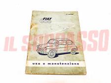 LIBRETTO USO E MANUTENZIONE FIAT 600 1 TIPO ORIGINALE 17 EDIZIONE