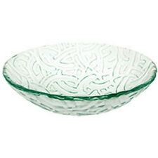 """Decolav 17"""" White Character Artistic Non-Tempered Glass Vanity Vessel Sink Bowl"""