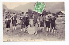 SUISSE SWITZERLAND Canton du VALAIS La musique du village CHAMPERY musiciens