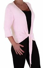 Womens Front Tie Knot Cropped Draped Wrap Bolero Casual Shrugs Tops Cardigans