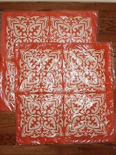 set/2 NWT Pottery Barn Silvia Embroidered pillow cover 20 orange