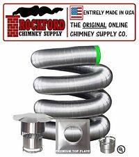 3 in. x 25 ft. Flexible Chimney Liner Insert Kit .006 316Ti Stainless Steel
