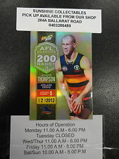 2013 AFL CHAMPIONS MILESTONE MG3 SCOTT THOMPSON ADELAIDE