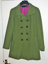 Size 10 authentic NEXT Warm Wool Blend Green Fully Lined Coat