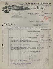 """RUSSDORF, Rechnung 1933, """"Welkera""""-Kunstseide-Strümpfe-Fabrik Welker & Söhne"""