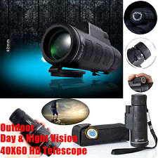 Night Vision 40x60 HD Optical Monocular Travel Hunting Camping Hiking Teles