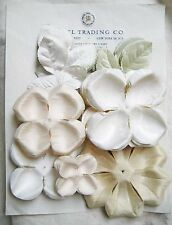 Lot Antique Vintage Hand Dyed White/Cream Fabric Flower Petals Millinery Hat