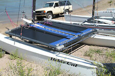 Hobie Cat 14 TURBO Trampoline New Black Mesh with Pocket And Blue Tough Wrap