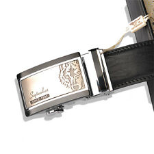 Septwolves men real Genuine cow leather belt Auto lock Buckle black 1105500-1