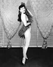 1963 Bettie Page Pinup nude draped in a feather boa 8 x 10 Photograph