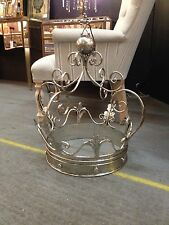 Extra Large Decorative Antique Silver Iron Crown - 60 x 40 x 40 cm - NEW!