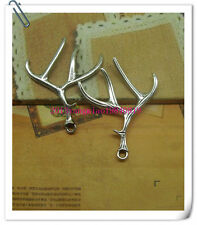 Free shipping for 5 PCS alloy ancient silver antlers fashion charm pendant