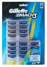 NEW & SEALED Gillette MACH 3  razor blades (20 blades) 100% GENUINE