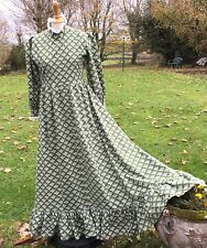 VINTAGE LAURA ASHLEY 70s PRAIRIE, BOHO, MAXI DRESS. VERY GOOD CONDITION. S.10