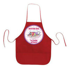 RED APRON RED HATTERS SHARE TEA & MORE FOR LADIES OF SOCIETY TEAS OR LUNCHEON