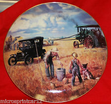 """""""Bountiful Harvest"""" Farming the Heartland Series by Emmet Kaye Collector Plate"""