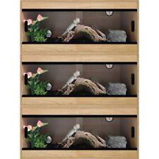"""Terapod Stack of 3 - 36"""" 3ft Slim Oak Pro Reptile Vivarium Housing  3 Foot"""