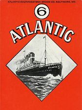 ART PRINT POSTER TRAVEL SHIP BOAT ATLANTIC SOUTHWESTERN BROOM NOFL1365
