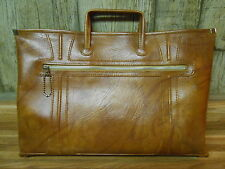 VINTAGE 1975 American Tourister Brown Leather Briefcase Retractable Handles