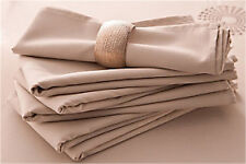 1 LOT DE 6 SERVIETTES DE TABLES BEIGE NEUVES 40x40cm
