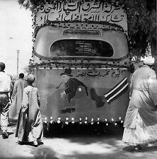 Photo originale Egypte autobus caricature