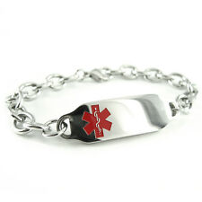 MyIDDr - Pre Engraved - LATEX ALLERGY Medical Bracelet, with Wallet Card
