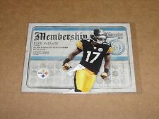 2010 Classics MIKE WALLACE #21 Platinum Variant/25 Pittsburgh STEELERS Ole Miss