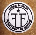 """Fringe Division Department of Defence 3.5"""" White Logo Patch-FREE S&H(FFPA-02)"""