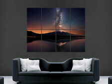 MOUNT FUJI POSTER  VOLCANO ERUPTION STARS HUGE LARGE WALL ART PICTURE  IMAGE