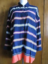 New w/tags Gap women's 100% rayon stylish multi-color striped tunic top XLarge