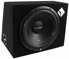 "New Rockford Fosgate R1-1X12 12"" 400 Watt Loaded Car Subwoofer Sub Enclosure"