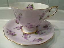 Royal Standard VIOLETS TEA CUP AND SAUCER Set Fine Bone China England EC