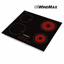 Windmax 23.5'' Ceramic 2 Induction &2 Infrared Timmer Burners Stove Cooktop 240V