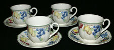 Villeroy and Boch Melina China * FOUR Tea Cups and Saucers