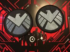• SHIELD • LEFT & RIGHT EAGLE • COSPLAY AGENT MAY PATCH PROP • AVENGERS MARVEL •