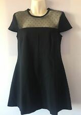 RED VALENTINO ABITO/VESTITO/DRESS DONNA/WOMEN ORIGINALE BLU CON PIZZO TG.S - 70%