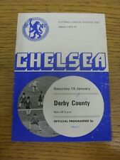 19/01/1974 Chelsea v Derby County  (Creased, Worn, Marked). Thanks for viewing o