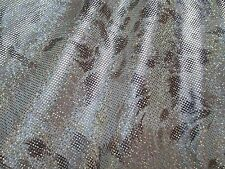 2 yards stretch spandex lycra fabric with foil decoration animal print