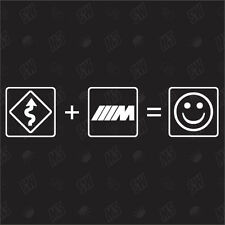 Kurven + BMW M Power = Smile - Fun Sticker , Auto Fun Aufkleber