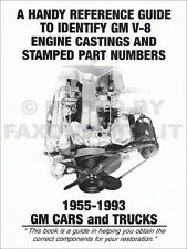 1955-1993 Chevy V8 Engine Casting Numbers Guide 283 305 327 350 396 400 409 427