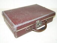 Sehr kleiner Koffer, alter Leder Koffer 30er 40er Jahre, Gepäckträger