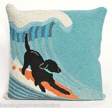 "PILLOWS - RUFF SURF THROW PILLOW - 18"" SQUARE - INDOOR OUTDOOR PILLOW"