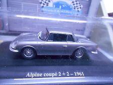 Renault alpine a108 Coupe 2+2 1961 gris plata met precio especial Eligor hach 1:43
