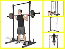 Squat Power Rack Stand Cage Fitness Equipment Home Gym Weightlifting Pull Up