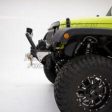 07-17 Jeep Wrangler JK Black Textured Front Bumper+Bull Bar Hoop+Winch Plate