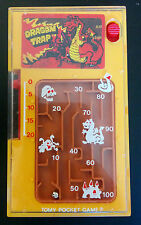 Dragon Trap Tomy Pocket Game #103297 Handheld Vintage Yellow Working Tested