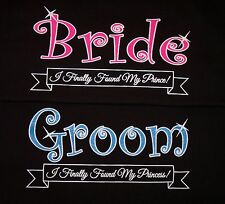 New Bride And Groom Black Wedding Sparkle T-Shirts! 2 Shirts