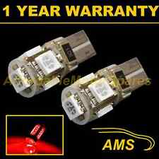2X W5W T10 501 CANBUS ERROR FREE RED HI-LEVEL BRAKE LIGHT 5 LED BULBS HBL101301